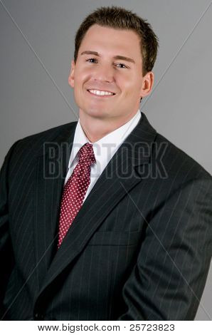 Attractive businessman in suit