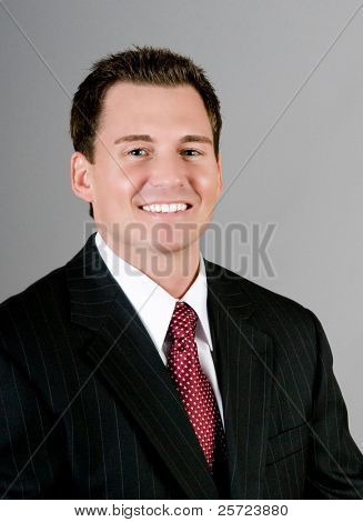 Handsome businessman in suit and tie