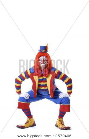 Squatting Circus Clown