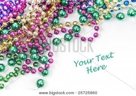 holiday or mardi gras beads