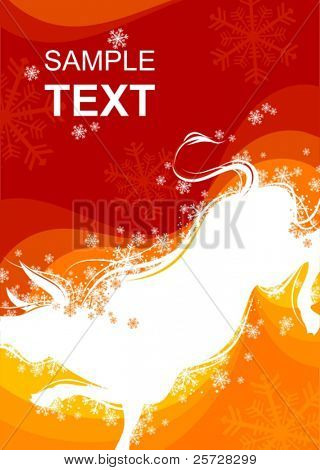 New Year background with Ox sign 4