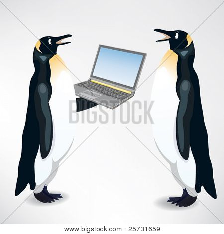 two business penguin