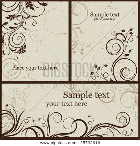 Set a decorative background in style VINTAGE