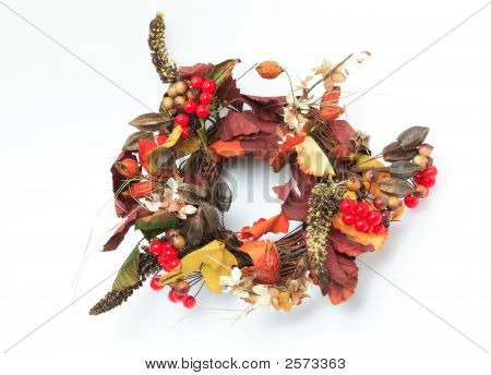 Wreath Made Of Artificial Flowers