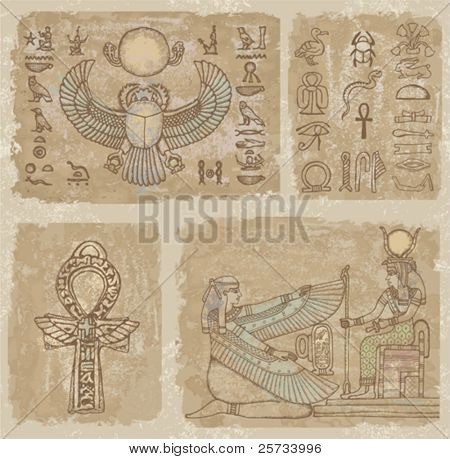 Background of the egyptian frescoes