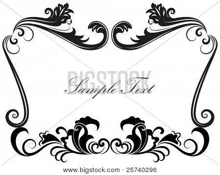 schwarz und weiß Jahrgang Frame Vorlage.