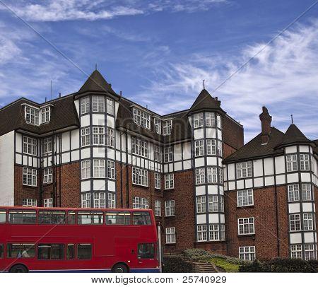 Tudor style buildings.