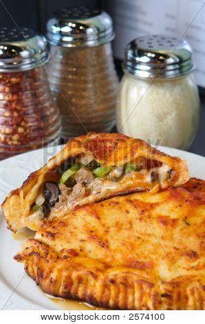 Calzone In A Italian Pizzeria