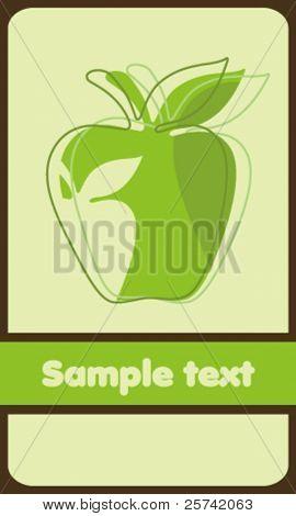 Hintergrund mit grüner Apfel