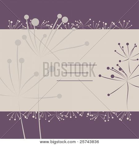 cover with simple flowers, vector