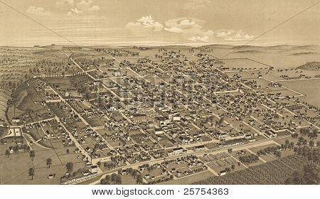 Honey Grove, Texas, Fannin Condado 1886