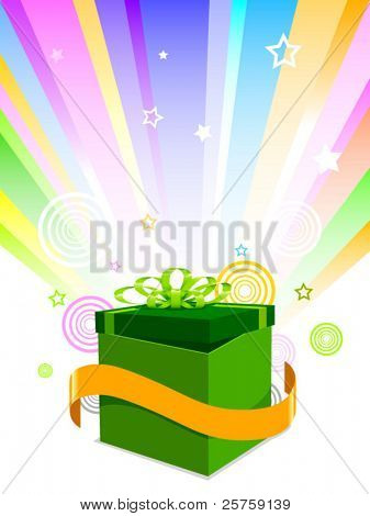 Vector abstract illustration of gift