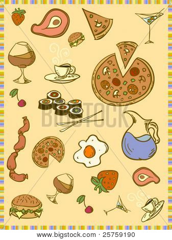 vector food set
