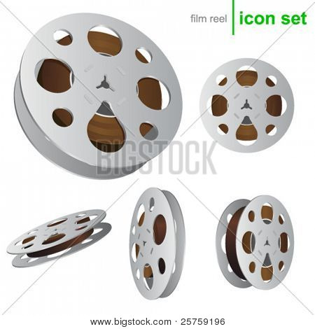 vector film reel icons