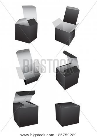 vector black boxes template