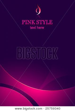 vector corporate business template background - pink