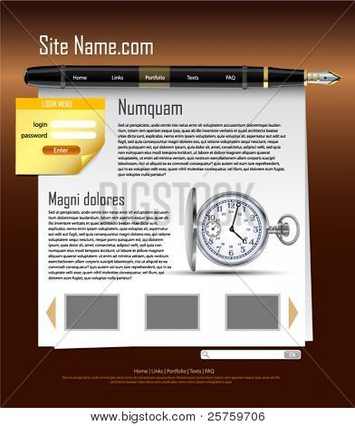 site template