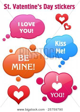 St. Valentines Day sticker. Vector