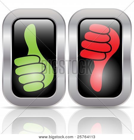 Positive negative voting buttons