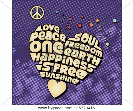 Peace heart graphic