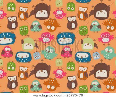 Cute Owls Seamless repeat