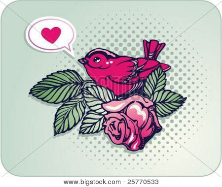 Love bird graphic