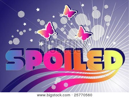 Spoiled butterflies vector graphic