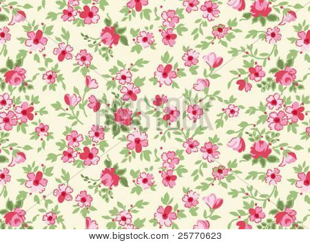 Tiny floral seamless background