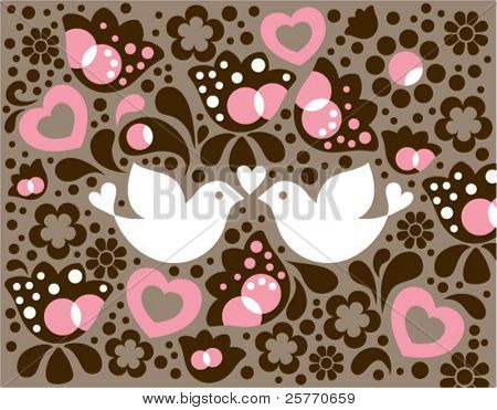 Love Birds vector graphic