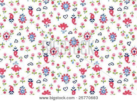 Tiny seamless flowers