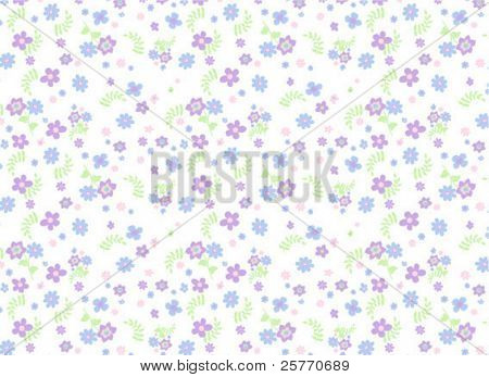 Tiny seamless floral background