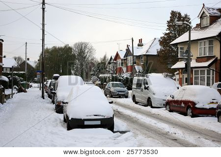 Street View After Heavy Snowfall