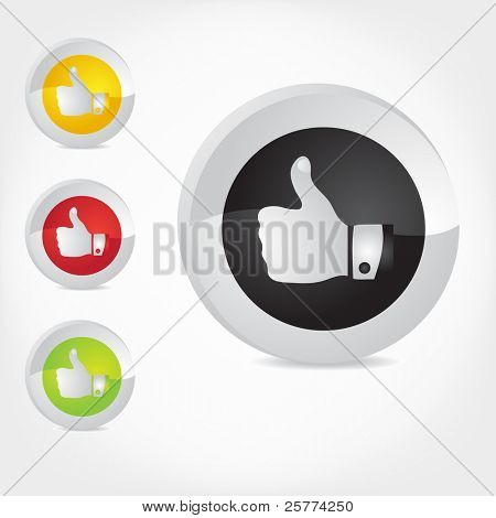 Thumb Up gesture. Vector.