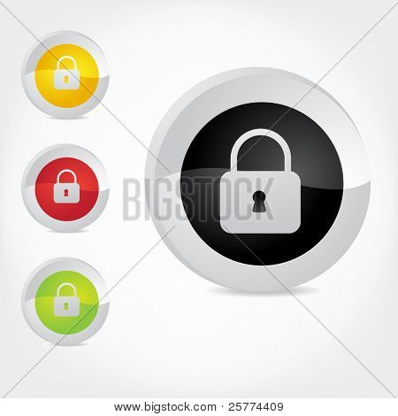 Vector secure icons.