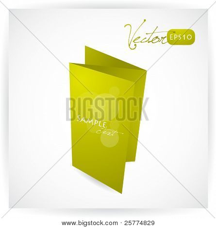 Tri-fold brochure design, vector EPS10.