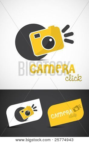 Abstract stylized camera icon, vector EPS10.
