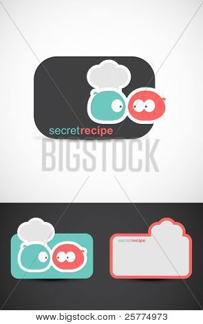 Secret recipe, EPS10 vector.