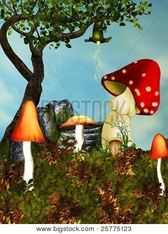 Mushroom House.