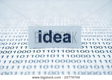 Idea Text On Binary Data
