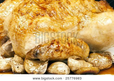 Roasted Chicken And Garlic