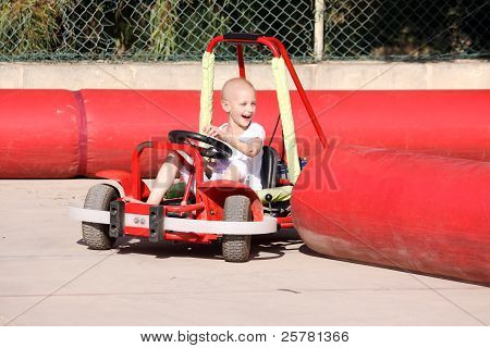 Child On Go cart