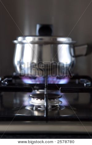 Gas Hob And Pan
