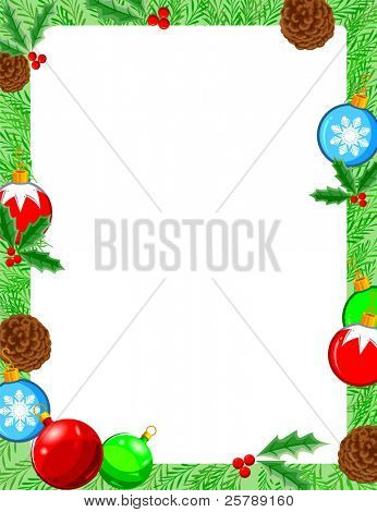 Christmas Frame 10x13 Vector Illustration
