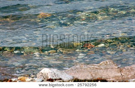 Sea With Stony Bottom