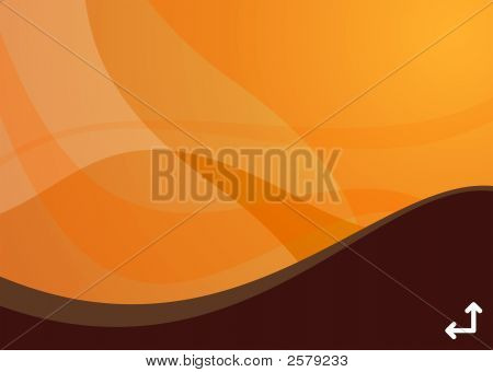 Orange Wave Background