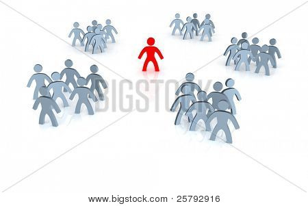 a person must choose from different groups