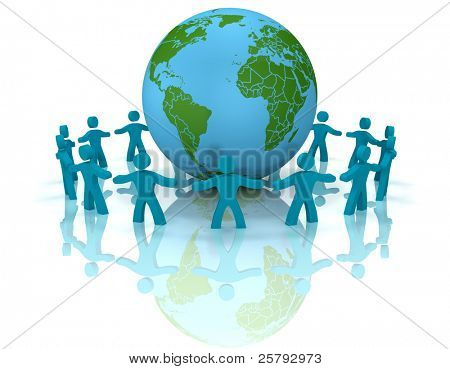 people embracing the world