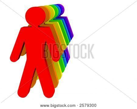 Rainbow Men Line Up