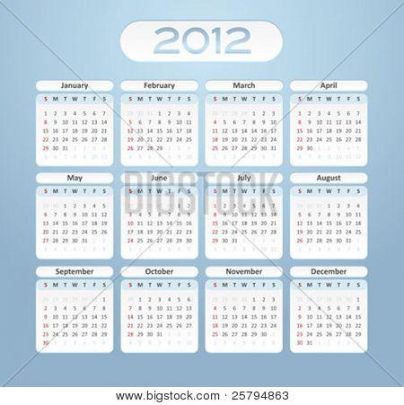 2012 business calendar
