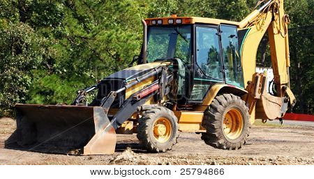 Bulldozer at worksite